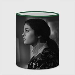Кружка 3D Selena Gomez: Mono цвета 3D-зеленый кант — фото 2