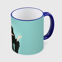 Кружка 3D Selena Gomez цвета 3D-синий кант — фото 1