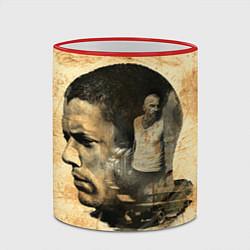Кружка 3D Prison Break: Scofield Art цвета 3D-красный кант — фото 2