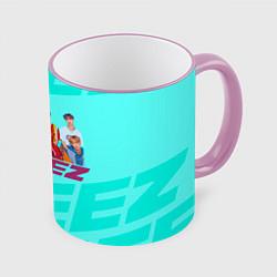 Кружка 3D Ateez цвета 3D-розовый кант — фото 1