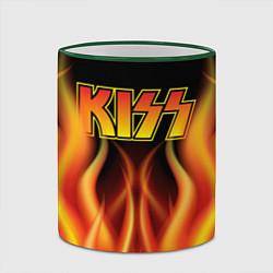 Кружка 3D KISS цвета 3D-зеленый кант — фото 2