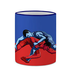 Кружка 3D Борьба цвета 3D-синий кант — фото 2