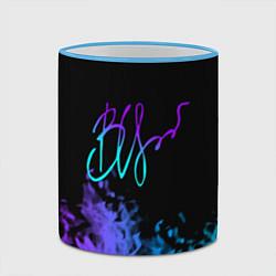 Кружка 3D Виктор Цой цвета 3D-небесно-голубой кант — фото 2
