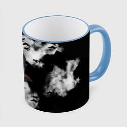 Кружка 3D Ворон цвета 3D-небесно-голубой кант — фото 1