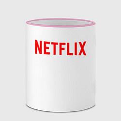 Кружка 3D NETFLIX цвета 3D-розовый кант — фото 2
