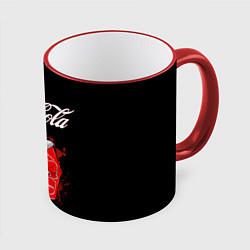 Кружка 3D Coca Cola цвета 3D-красный кант — фото 1
