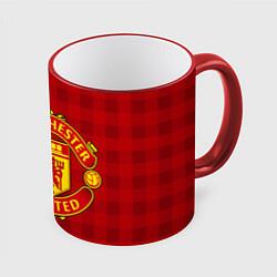 Кружка 3D Manchester United цвета 3D-красный кант — фото 1
