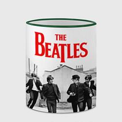 Кружка 3D The Beatles: Break цвета 3D-зеленый кант — фото 2