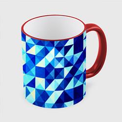 Кружка цветная Синяя геометрия