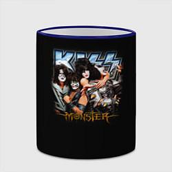 Кружка 3D Kiss Monster цвета 3D-синий кант — фото 2