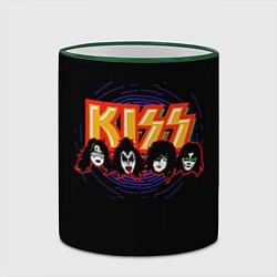 Кружка 3D KISS: Death Faces цвета 3D-зеленый кант — фото 2