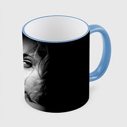 Кружка 3D Глаза Джоли цвета 3D-небесно-голубой кант — фото 1
