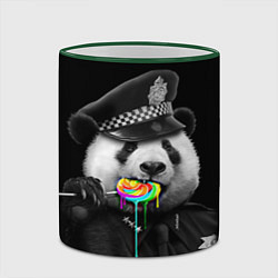 Кружка 3D Панда с карамелью цвета 3D-зеленый кант — фото 2