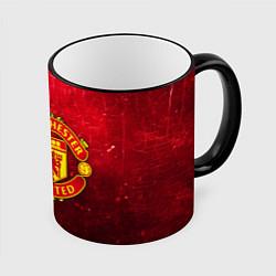 Кружка 3D Манчестер Юнайтед цвета 3D-черный кант — фото 1
