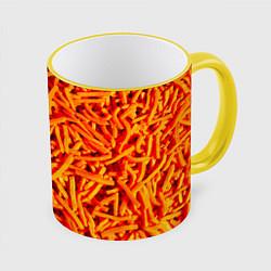 Кружка 3D Морковь цвета 3D-желтый кант — фото 1
