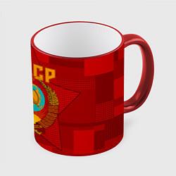 Кружка 3D СССР цвета 3D-красный кант — фото 1