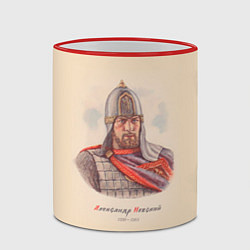 Кружка 3D Александр Невский 1220-1263 цвета 3D-красный кант — фото 2