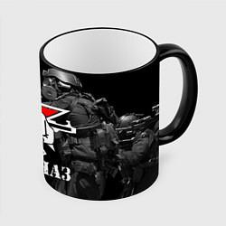Кружка 3D Спецназ 16 цвета 3D-черный кант — фото 1