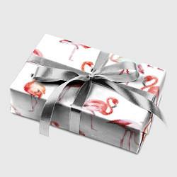 Бумага для упаковки Действия фламинго цвета 3D-принт — фото 2