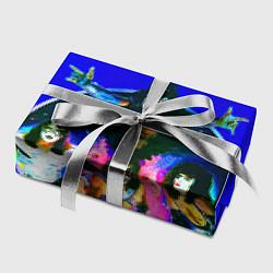 Бумага для упаковки Kiss Show цвета 3D — фото 2