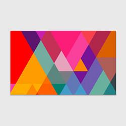 Бумага для упаковки Разноцветные полигоны цвета 3D — фото 1