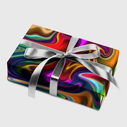 Бумага для упаковки Неоновые разводы цвета 3D — фото 2