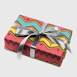 Бумага для упаковки Цветные зигзаги цвета 3D — фото 2