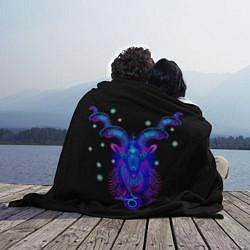 Плед флисовый Космический Козерог цвета 3D-принт — фото 2