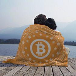 Плед флисовый Bitcoin Mandala цвета 3D — фото 2