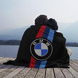 Плед флисовый BMW M: Black Sport цвета 3D — фото 2