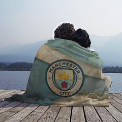 Плед флисовый FC Man City: Old Style цвета 3D-принт — фото 2
