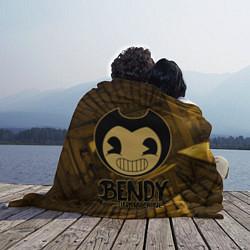Плед флисовый Black Bendy цвета 3D — фото 2