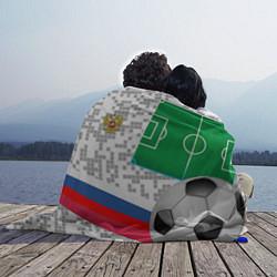 Плед флисовый Русский футбол цвета 3D — фото 2