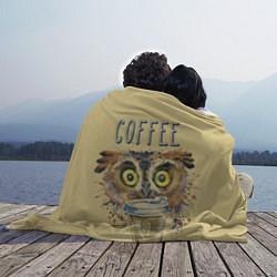 Плед флисовый Owls like coffee цвета 3D — фото 2