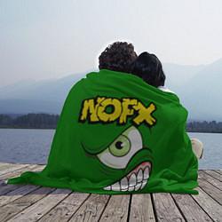 Плед флисовый NOFX Face цвета 3D-принт — фото 2