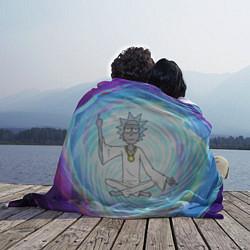 Прямоугольный плед из флиса с принтом Rick in Nirvana, цвет: 3D, артикул: 10185289105005 — фото 2