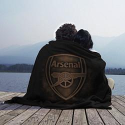 Плед флисовый Arsenal цвета 3D-принт — фото 2