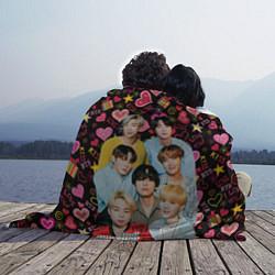 Плед флисовый I Love BTS цвета 3D — фото 2