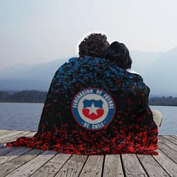 Плед флисовый Сборная Чили цвета 3D — фото 2