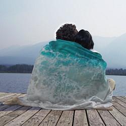 Плед флисовый Берег цвета 3D — фото 2