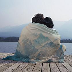 Плед флисовый Горы цвета 3D — фото 2