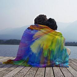 Плед флисовый Абстракция красок цвета 3D — фото 2