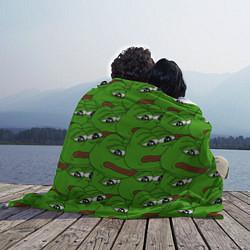 Плед флисовый Sad frogs цвета 3D — фото 2