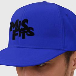 Кепка-снепбек Misfits цвета синий — фото 1