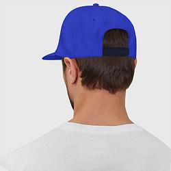 Кепка-снепбек Любимый папа цвета синий — фото 2
