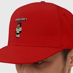 Кепка-снепбек Minecraft Batman цвета красный — фото 1