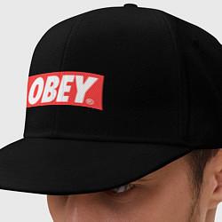 Кепка-снепбек OBEY Logo цвета черный — фото 1