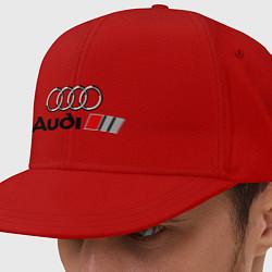 Кепка-снепбек Audi цвета красный — фото 1