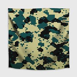 Скатерть для стола Камуфляж пиксельный: зеленый/черный цвета 3D — фото 1