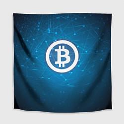 Скатерть для стола Bitcoin Blue цвета 3D — фото 1